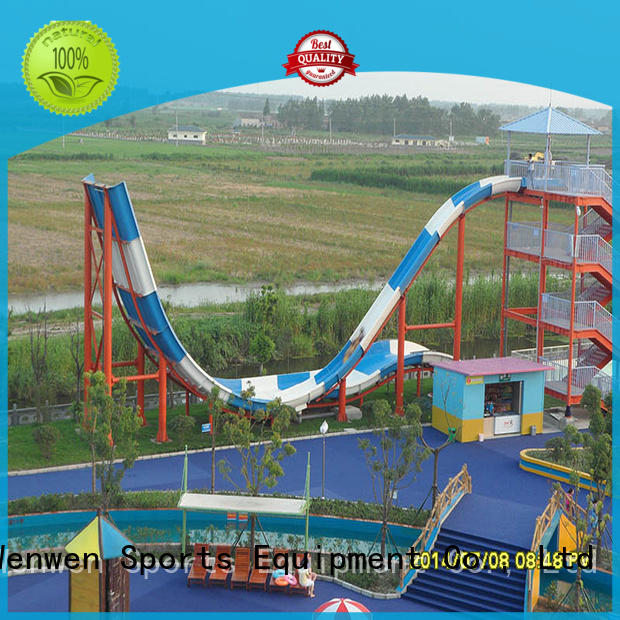 Wenwen fiberglass swimming pool slide equipment for resorts