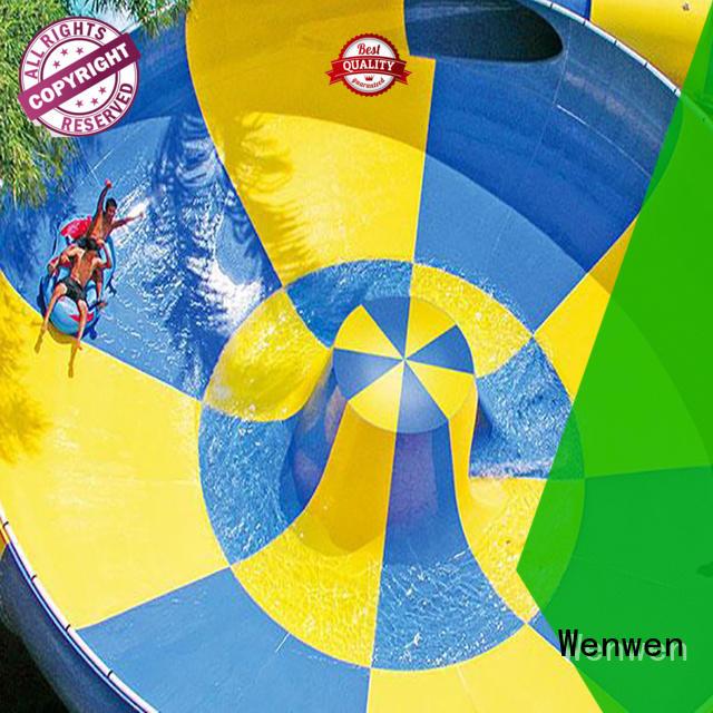 Wenwen construction fiberglass pool slide supplier for sale