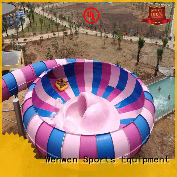 Wenwen outdoor water slide with bowl supplier for swimming pool