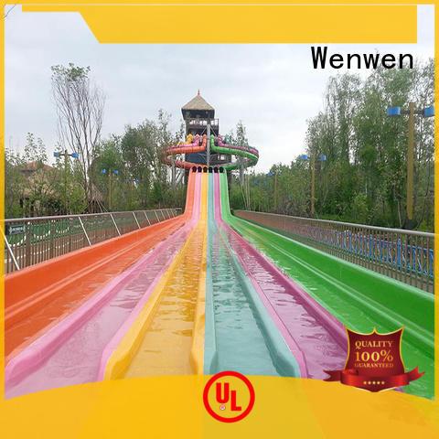 highspeed water slide ride slides frp Wenwen Brand