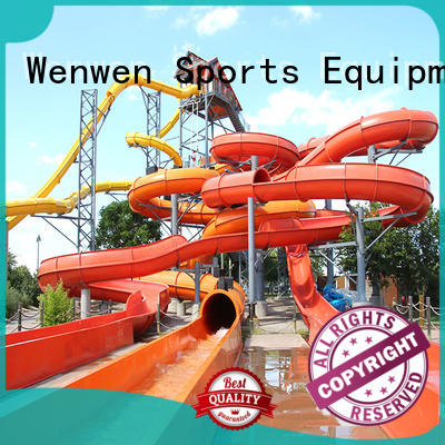 Wenwen outdoor fiberglass water slide manufacturers online for resort