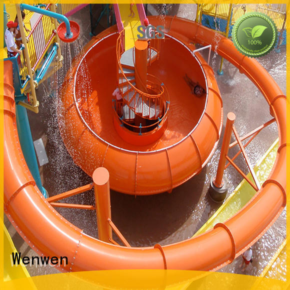 Wenwen water slide with bowl online for aqua park