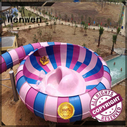 fiberglass amusement big water slides mix color Wenwen company