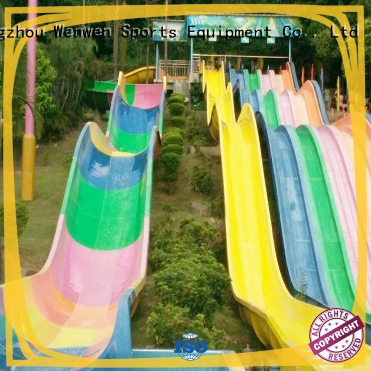 Wenwen fiberglass water slides suppliers aqua playground for hotel