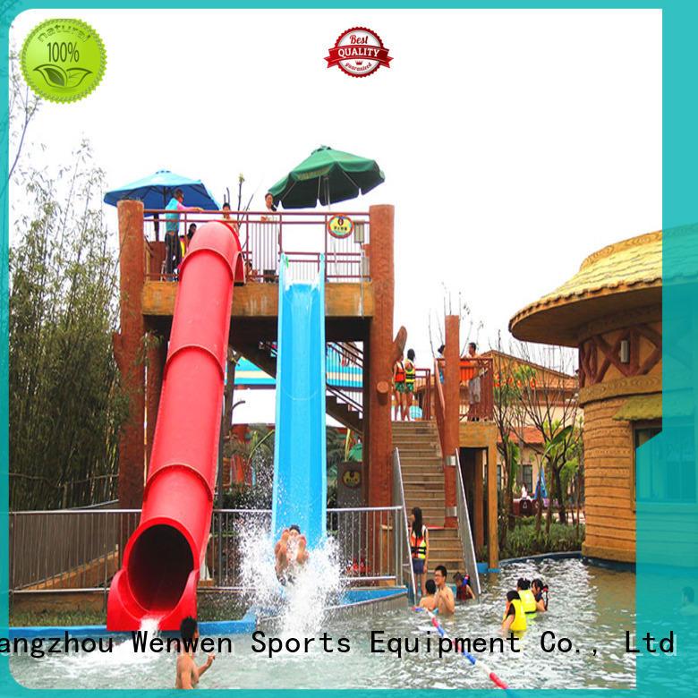 water slide outdoor swimming pool for hotel Wenwen