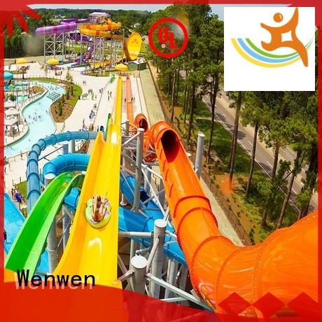 pool water slide sled for hotel Wenwen