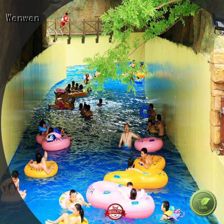 Wenwen funny lazy river pool equipment for amusement park