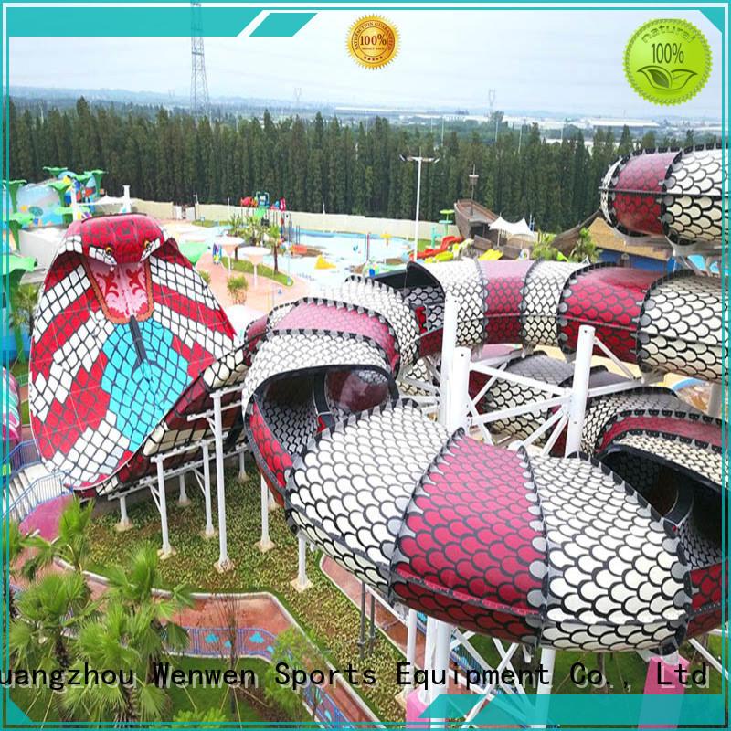 Wenwen fiberglass huge water slide equipment for hotel