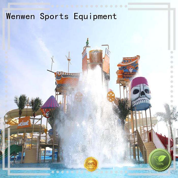 equipment family slide Wenwen Brand water playground supplier
