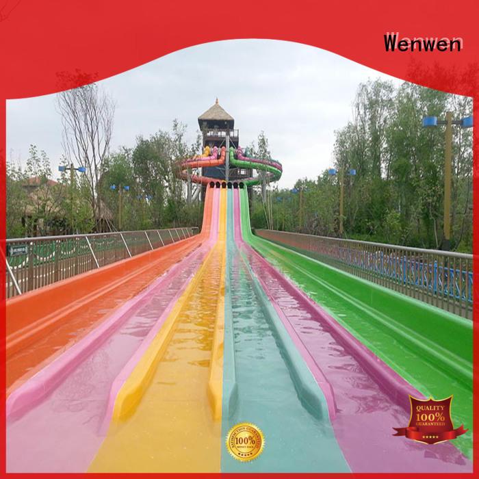 Wenwen fiberglass slides for sale maker for amusement park