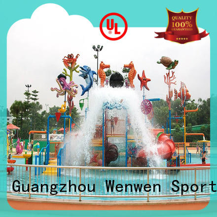 inside water park colorful for hotel Wenwen