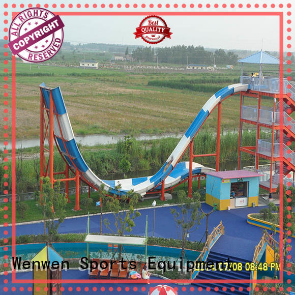 Wenwen boomerang swimming pool water slides equipment for hotel