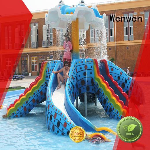 Custom kids water slide pool Wenwen