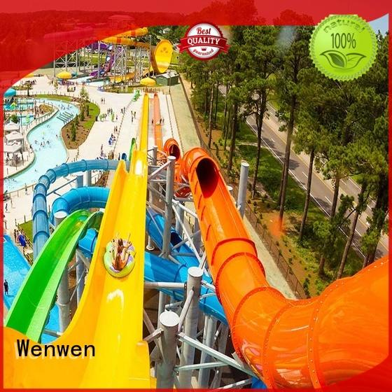 Wenwen customized water slide outdoor swimming pool for hotel