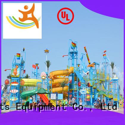 Wenwen aquatic huge water playground spiral slide for hotel