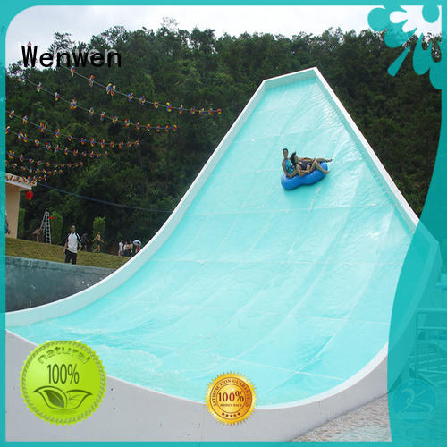 fiberglass slide commercial swimming pool for hotel Wenwen