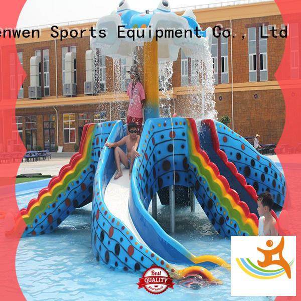 Wenwen interactive best kids water slide fiberglass for water park