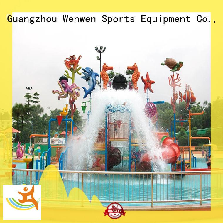 Wenwen outdoor water playground equipment for resort