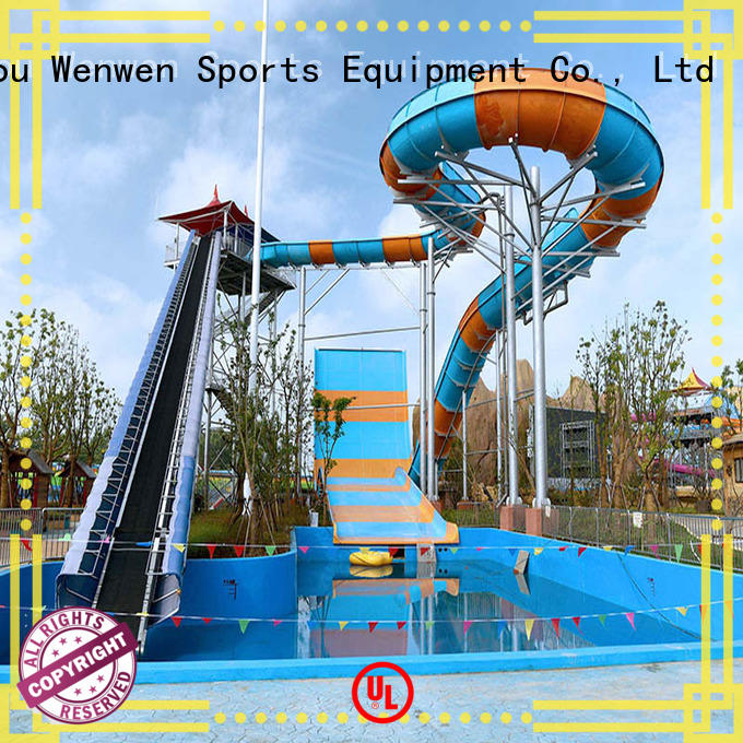 online water slide and pool project for resorts Wenwen