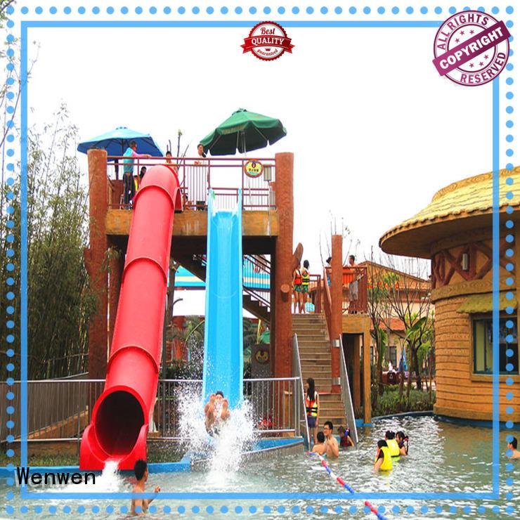 Wenwen adult commercial water slides design for hotel