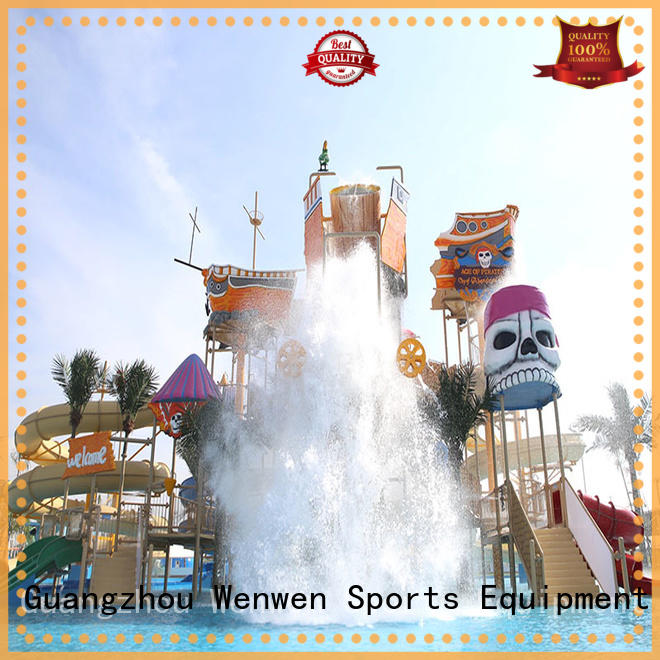Wenwen colorful water park playground designed for amusement park