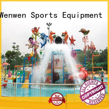 spray curtain indoor water park house Wenwen company
