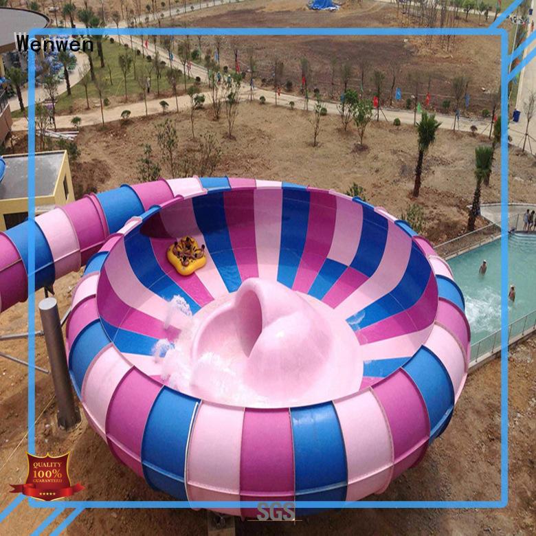 Wenwen fiberglass pool slide manufacturer for amusement