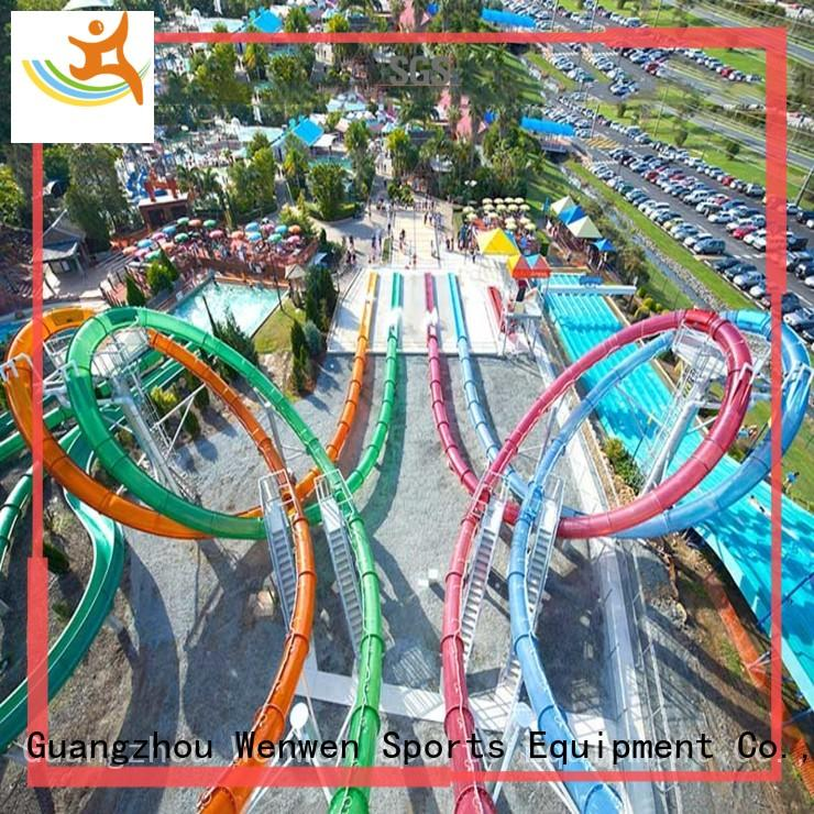 Wenwen colorful aqua slide water slide fiberglass online