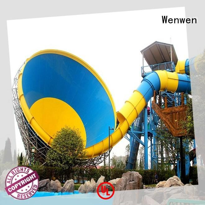 Wenwen new water slide height for resort