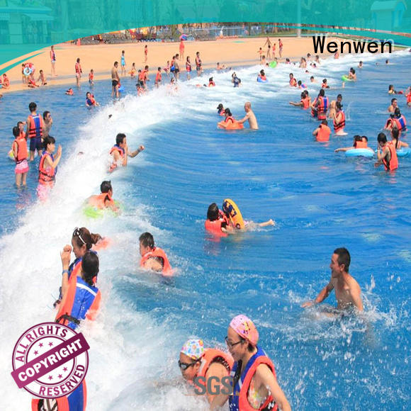 Wenwen vacuum the wave pool online for resort