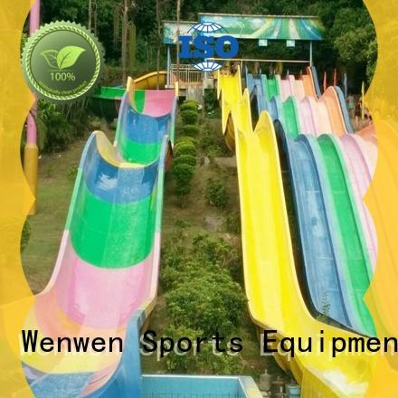 Wenwen family huge water slide aqua playground for theme park