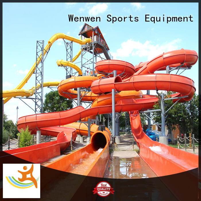 Wenwen water slide ride swimming pool for adult