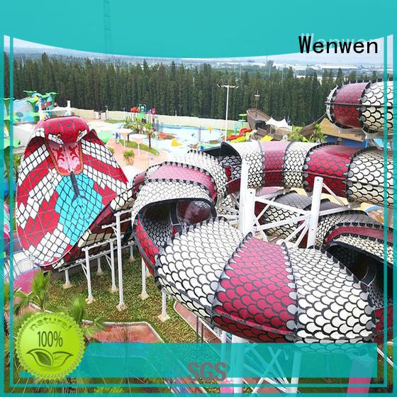 Wenwen designed outdoor water slides maker for resort