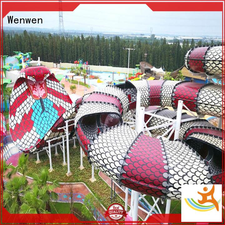 theme slides exciting Wenwen Brand huge water slide supplier