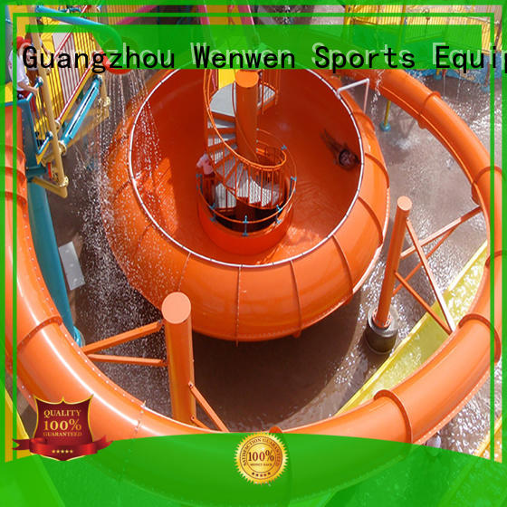 Wenwen outdoor fiberglass pool slide equipment for aqua park