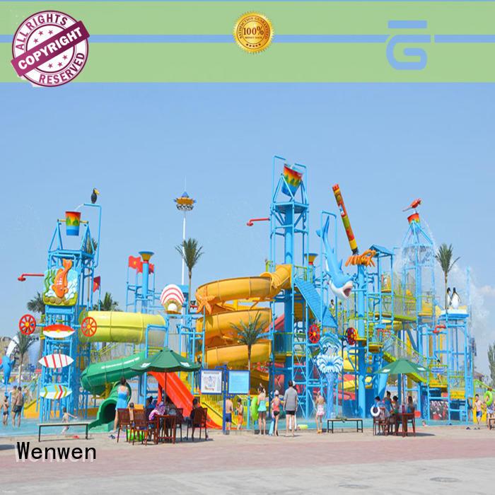 Wenwen biggest water park ever spiral slide for theme park
