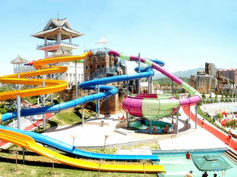 Combination Water Slide Commercial Fiberglass Water Slide For Resort And Hotel Theme Water Park