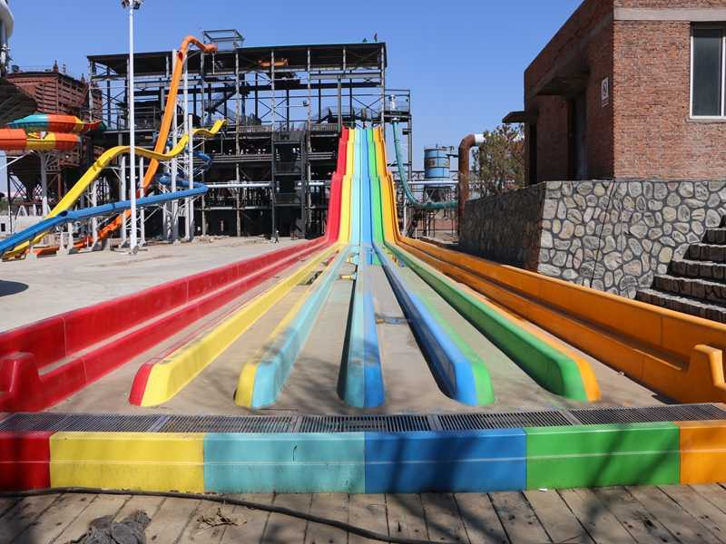 Commercial  Rainbow Water Slide Water Park Swimming Pool Slide Playground