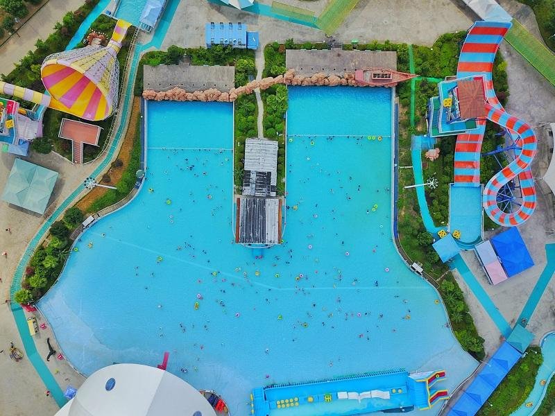 Water Park Artificial Wave Pool Water Park Construction For Holiday Resort