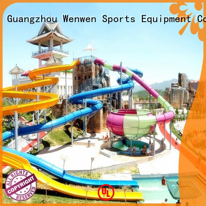 Wenwen racing a water slide supplier for resort
