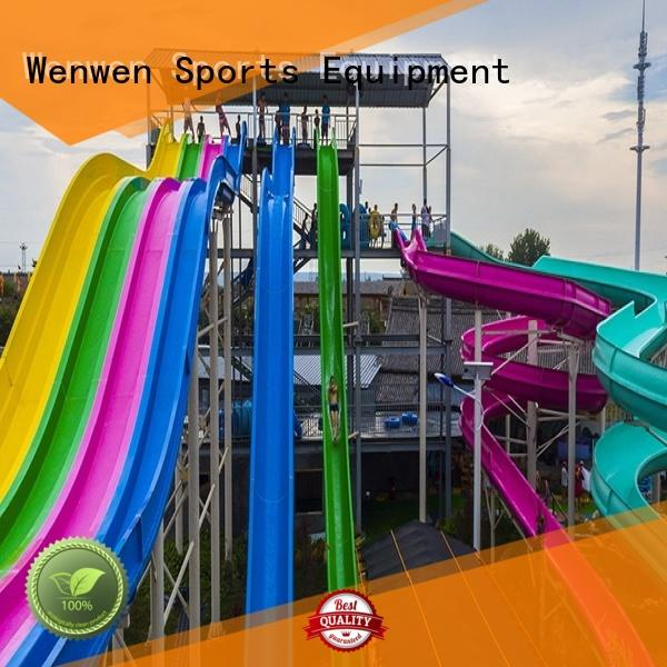 Wenwen large fiberglass water slides for sale swimming pool for water park