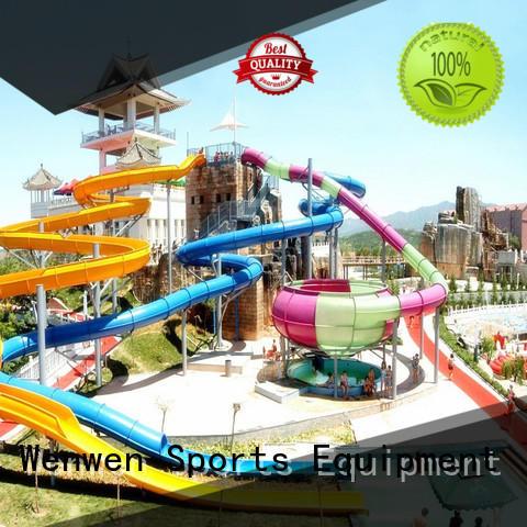 Wenwen a water slide supplier for hotel