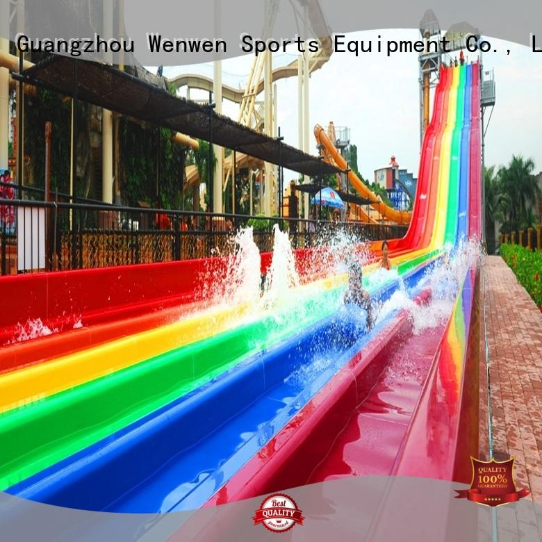 10 water slides rainbow entertainment fiberglass Wenwen Brand best water slides in the world